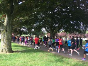 Runners at ParkRun Coventry