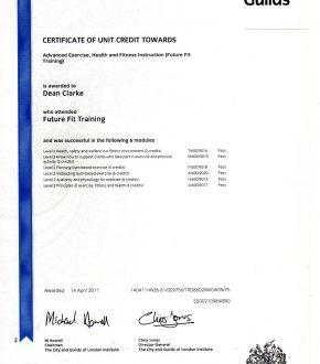 Future Fit Certificate – Dean Clarke
