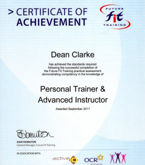Personal Trainer & Advanced Instructor
