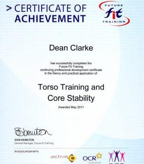 Torso Training & Core Stability Certificate