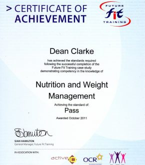 Nutrition & Weight Management certificate