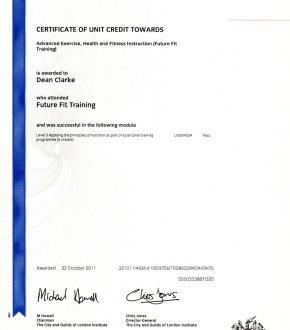 Nutrition – Applying principles certificate