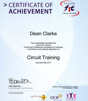 Circuit Training certificate