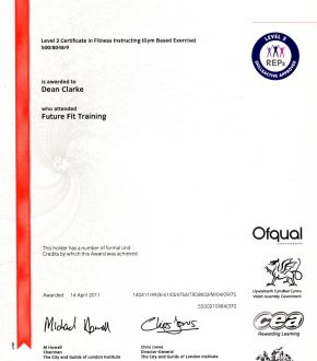 Gym Based Instructor Certificate